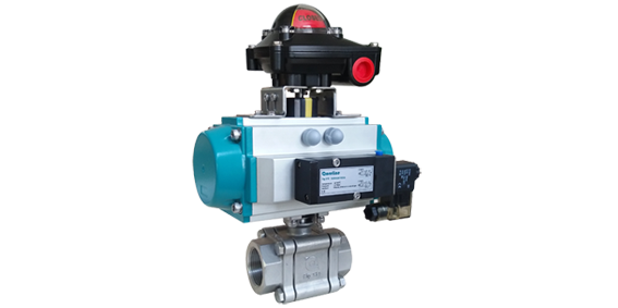 3PC heavy duty ball valve with ISO mounting pad