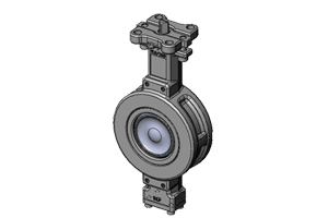HP butterfly valve with ISO5211